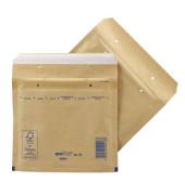 Luftpolstertaschen Classic CD/DVD braun haftklebend innen: 180x165mm 100 Stück