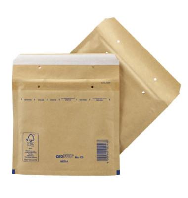 Luftpolstertaschen CLASSIC CD, 2FVAF000013, innen 165x180mm, haftklebend, braun