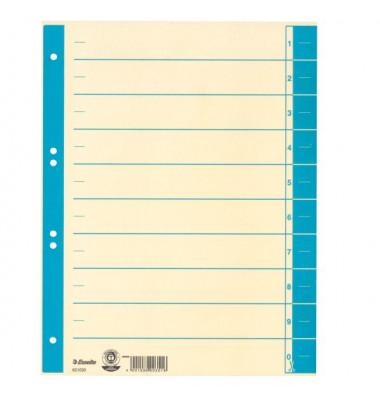 Trennblätter 621020 A4 chamois/hellblau 230g 100 Blatt