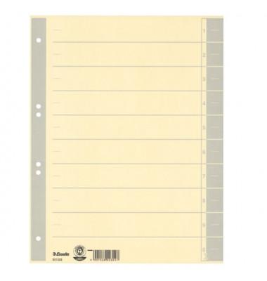 Trennblätter 621023 A4 chamois/grau 230g 100 Blatt