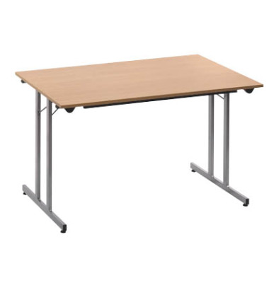 Schreibtisch TPMU128HA klappbar buche rechteckig 120x80 cm (BxT)