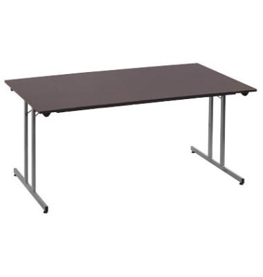 Schreibtisch TPMU128WA klappbar wenge rechteckig 120x80 cm (BxT)