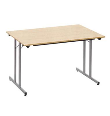 Schreibtisch TPMU148EA klappbar ahorn rechteckig 140x80 cm (BxT)