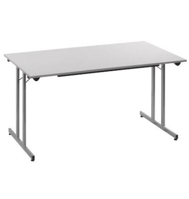 Schreibtisch TPMU148GA klappbar grau rechteckig 140x80 cm (BxT)