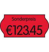Preisetiketten 9420550, 26x12mm, leuchtrot permanent, 54.000 Etiketten
