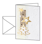 Weihnachtskarten White Christmas A6 10 Stück inkl. weißen Umschlägen