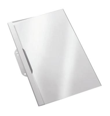 Thermobindemappen 1,5mm Rückenbreite mit Abheftlasche weiß 100 St. Transp. 5-15 Blatt