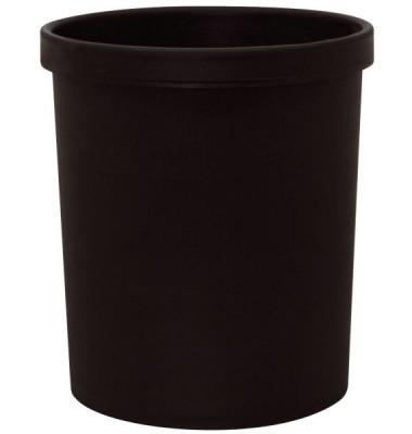 Sicherheitspapierkorb 18 Liter schwarz