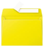 Designbriefumschläge C6 Pollen ohne Fenster haftklebend 120g sonnengelb 20 Stück