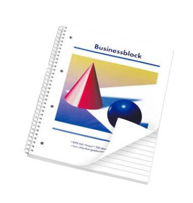 Collegeblock Businessblock 100110259203, A4 liniert, 80g 100 Blatt, 4-fach-Lochung