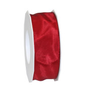 Geschenkband Lyon Lurexband mit Drahtkante 40mm x 25m bordeaux