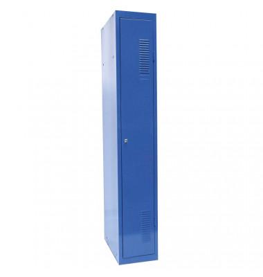 Spind 50302, Metall, 1 Abteil mit 1 Fach, abschließbar (Schloss separat erhältlich), 30x180cm (BxH), blau
