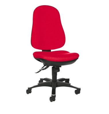 Bürodrehstuhl Trend SY 10 ohne Armlehnen rot