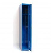 Spind 51302, Metall, 1 Abteil mit 1 Fach, abschließbar, 30x180cm (BxH), blau