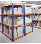 Weitspannregal 214,6 x 77,3 x 243,8 cm 4 Fachböden Tragkraft 620,0 kg