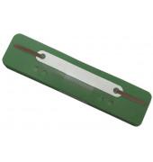 Heftstreifen kurz 2012500110, 34x150mm, Kunststoff mit Kunststoffdeckleiste, grün, 25 Stück