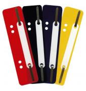 Heftstreifen kurz 2012500210, 34x150mm, Kunststoff mit Kunststoffdeckleiste, gelb, 25 Stück