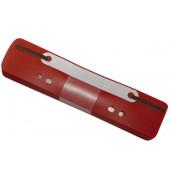 Heftstreifen kurz 2012500310, 34x150mm, Kunststoff mit Kunststoffdeckleiste, rot, 25 Stück