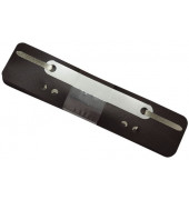 Heftstreifen kurz 2012500810, 34x150mm, Kunststoff mit Kunststoffdeckleiste, schwarz, 25 Stück