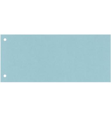 Trennstreifen blau 190g gelocht 240x105mm 100 Blatt