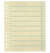 Trennblätter 953110 A4 chamois/grün 230g 100 Blatt Recycling