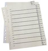 Trennblätter 951110 A4 chamois/schwarz 230g 100 Blatt Recycling