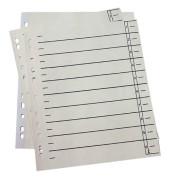 Trennblätter 952110 A4 chamois/schwarz 190g 100 Blatt Recycling