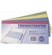 Trennstreifen farbig sortiert 190g gelocht 240x105mm 40 Blatt