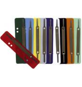 Heftstreifen kurz PP farbig sortiert 34x150mm 10x 25 Stück Metalldeckleiste