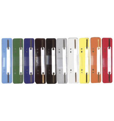 Heftstreifen kurz 2102502011, 34x150mm, Kunststoff mit Kunststoffdeckleiste, farbig sortiert, 250 Stück