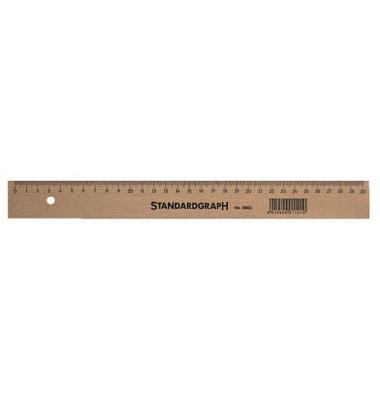 Lineal Buche m.Stahl 20cm