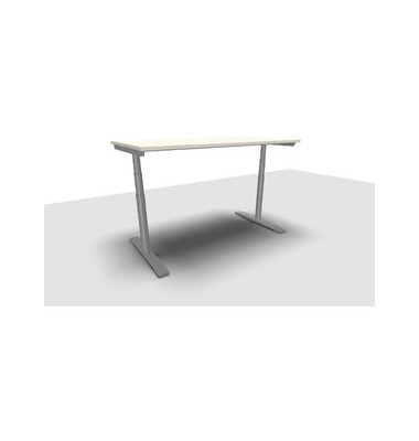 Schreibtisch Jump Move TR0018-4G3PGW3W3D000T1U0 ergonomisch weiß rechteckig 160x80 cm (BxT) elektrisch höhenverstellbar