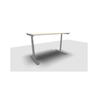 Schreibtisch Jump Move TR0018-4G3PGW3W3D000T1U0M ergonomisch weiß rechteckig 160x80 cm (BxT) elektrisch höhenverstellbar