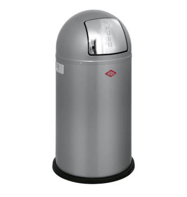 Abfallsammler Pushboy 50 Liter silber