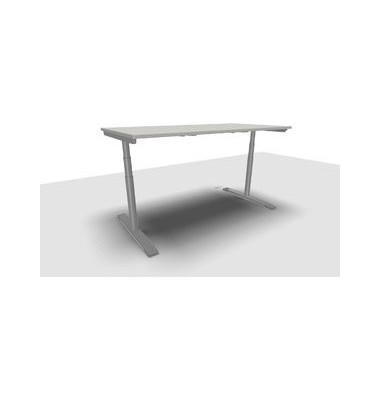 Schreibtisch Jump Move TR0022-4G3PGA1A1D000T1U0M ergonomisch grau rechteckig 180x90 cm (BxT) elektrisch höhenverstellbar