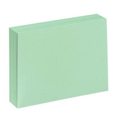 Karteikarten A7 blanko 190g grün 100 Stück