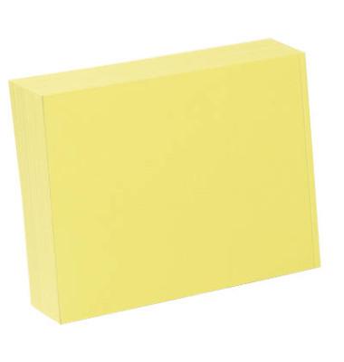 Karteikarten A6 blanko 190g gelb 100 Stück