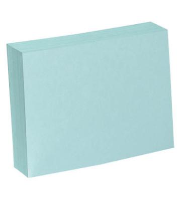Karteikarten A5 blanko 190g blau 100 Stück