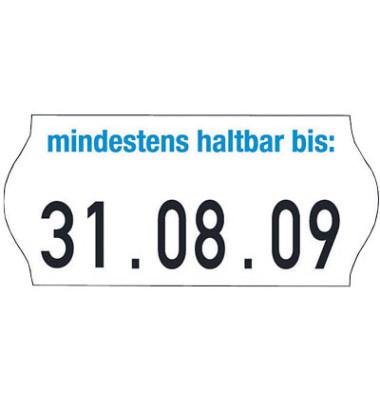 Datumsauszeichnungs-Etiketten im Minipack   18 Rollen