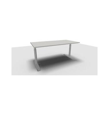 Schreibtisch Jump TN0018-4G2JGA1A1D0D0V0U0M grau rechteckig 160x80 cm (BxT) manuell höhenverstellbar