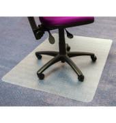 Bodenschutzmatte 120 x 90 cm Form O fürTeppichböden transparent PVC