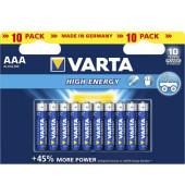 Batterie High Energy Micro / LR03 / AAA 10 Stück