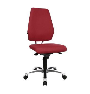 Bürodrehstuhl Body Balance S30 ohne Armlehnen rot