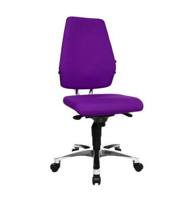 Bürodrehstuhl Body Balance S30 ohne Armlehnen violett