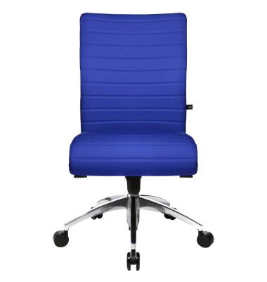Bürodrehstuhl Step ohne Armlehnen blau