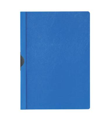Klemmhefter 2002-06, A4, für ca. 30 Blatt, Kunststoff, blau