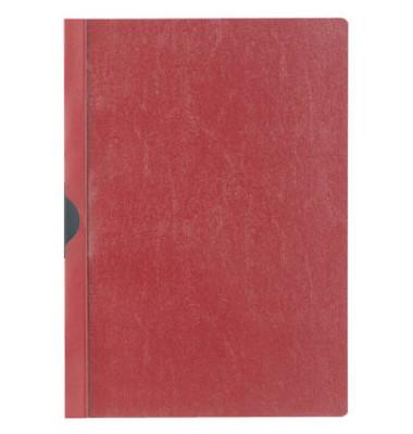 Klemmhefter 2002-03, A4, für ca. 30 Blatt, Kunststoff, rot