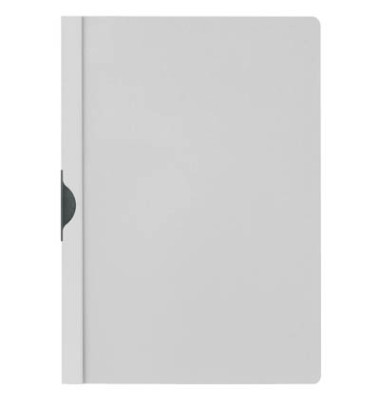 Klemmhefter 2002-10, A4, für ca. 30 Blatt, Kunststoff, grau