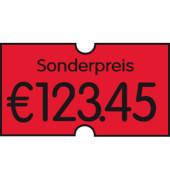 Preisetiketten 70-36M-S-035, 21,6x12mm, leuchtrot permanent, 16.800 Etiketten