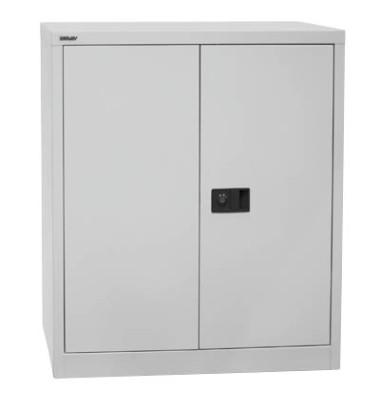 Aktenschrank Universal E402A0145445, Stahl abschließbar, 2 OH, 91,4 x 100 x 40 cm, lichtgrau